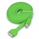USB to 30-Pin Charging & Data Transmission Flat Cable for iPhone / iPad / iPod - Green (300cm)