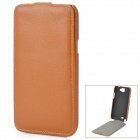 Protective Top Flip Open PU Leather Case for Samsung Galaxy Note 2 N7100 - Brown