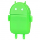 Cute Android Robot Style USB 2.0 SD / MS / M2 / TF Card Reader - Green