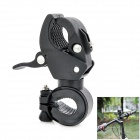 Universal Plastic Cycling Bicycle Flashlight Torch Mount Holder Clamp - Black