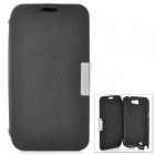 Protective Flip-Open PU Leather Case for Samsung Galaxy Note 2 N7100 - Black