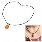100% Pure Gold Foil Fresh Pine Cone Pendant Necklace - Golden