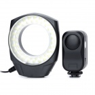 5W 6500K 48lm 48-LED Micro Ring Light w/ Charger Mode Controller + Adapter - Black + White