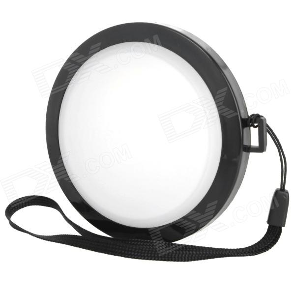 MENNON 72mm Camera White Balance Lens Cap Cover w/ Hand Strap - Black + White