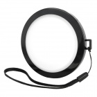 MENNON 77mm Camera White Balance Lens Cap Cover w/ Hand Strap - Black + White