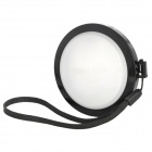 MENNON 62mm Camera White Balance Lens Cap Cover w/ Hand Strap - Black + White