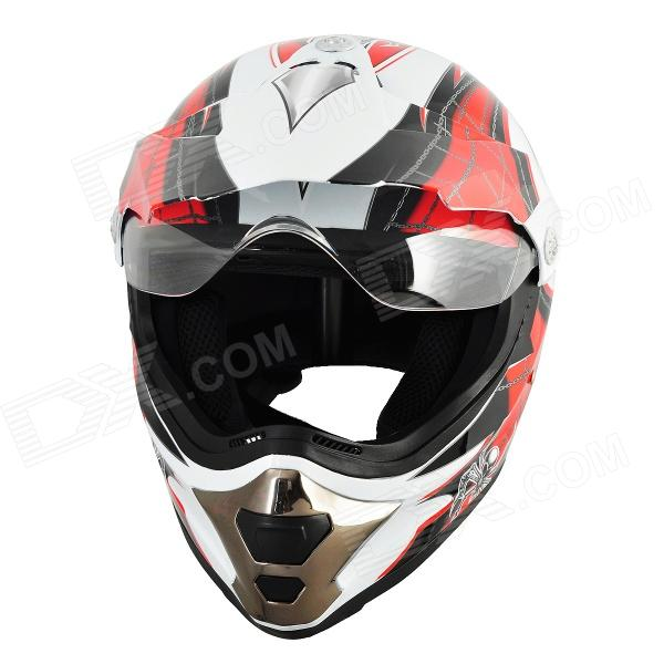 Cool MOON BH-50 Outdoor Sports Cycling Racing Helmet - Red + White