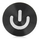 Aluminum Alloy Home Button Sticker for Iphone / Ipad / Ipod - Black