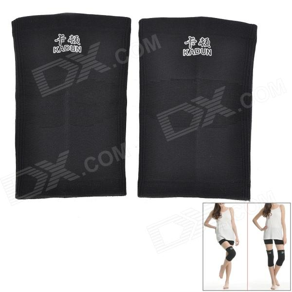 Kadun 956 Sports Knee Pad Wrap - Black (Size L / 2 PCS) universal nylon cell phone holster blue black size l