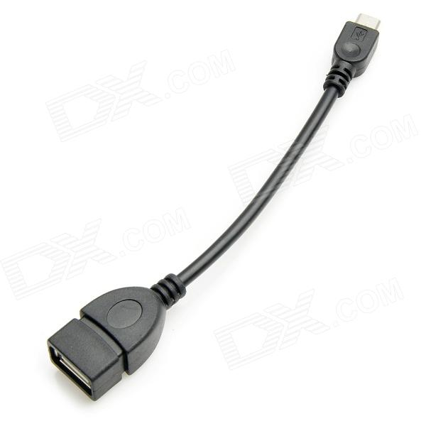 Micro USB to USB Female OTG Data Adapter Cable for Tablet PC - Black