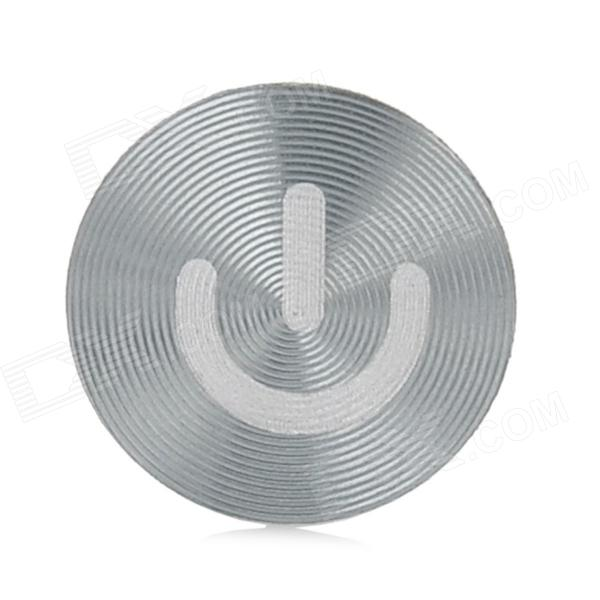 Aluminum Alloy Home Button Sticker for Iphone / Ipad / Ipod - Grey