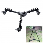 900 Professional 2-Section Digital Camera Wheel Tripod Dolly - Black (Max. 88cm)