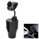 360 Degree Rotatable Car Cup Mount Holder for Iphone 5 / 4S / GPS / Tablet PC + More - Black