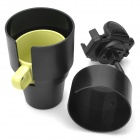 360 grados giratoria Copa Car Mount Holder para Iphone 5 / 4S / GPS / Tablet PC + Más - Negro