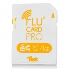 FluCard SD Memory Card w/ Wi-Fi for Camera - White (4GB)