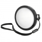 MENNON 52mm Camera White Balance Lens Cap Cover w/ Hand Strap - Black + White