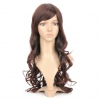 Fashion Long Curly Hair Tilted Frisette Wig - Light Brown
