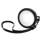 MENNON 37mm Camera White Balance Lens Cap Cover w/ Hand Strap - Black + White