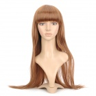 Fashion Long Straight Hair Wig - Gold Brown