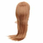 Mode longue perruque cheveux raides - Gold Brown