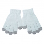 Universal Cotton 5-Finger-Touch Screen Winter Handschuhe für iPhone / iPad + More - Grau (Paar)
