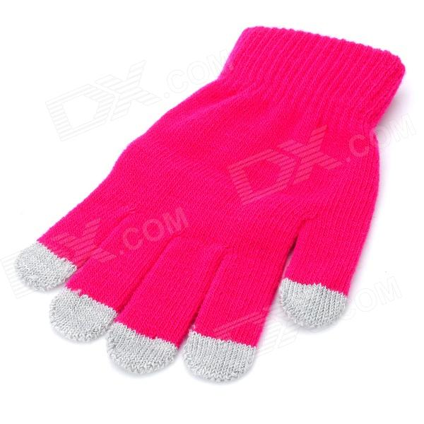 Universal Cotton 5-Finger Touch Screen Winter Gloves for