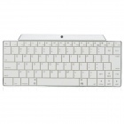 Wiederaufladbare 2.4GHz Bluetooth V3.0 Wireless-83-Key Keyboard - White