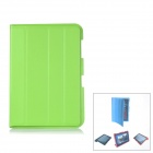 Protective PU Leather Case Stand w/ Cleaning Cloth for Samsung Galaxy Note 10.1 N8000 - Green