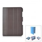 Protective PU Leather Case Stand w/ Cleaning Cloth for Samsung Galaxy Note 10.1 N8000 - Brown