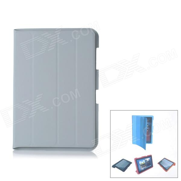 Protective Wake-up / Sleep Case w/ Cleaning Cloth for Samsung Galaxy Note 10.1 N8000 - Grey