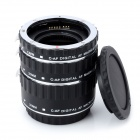 Macro Extension 31mm / 21mm / 13mm Stainless Steel + Plastic Tube Set for Canon Camera - Black