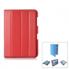 Protective PU Leather Case Stand w/ Cleaning Cloth for Samsung Galaxy Note 10.1 N8000 - Red