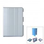 Protective PU Leather Case Stand w/ Cleaning Cloth for Samsung Galaxy Note 10.1 N8000 - Grey