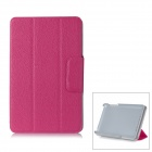 "Flip Open Lichee Pattern Protective PC Case Stand for Google Nexus 7"" - Deep Pink"