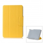 "Flip Open Lichee Pattern Protective PC Case Stand for Google Nexus 7"" - Yellow"