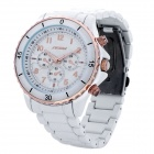 SINOBI 9412 Fashion Alloy Band Quartz Analog Water Resistant Wrist Watch - White (1 x LR626)