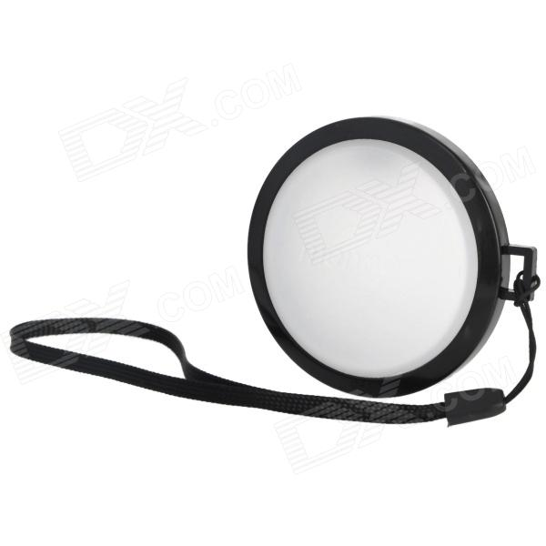 MENNON 58mm Camera White Balance Lens Cap Cover w/ Hand Strap - Black + White