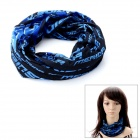 Multifunction Outdoor Sports Bicycle Cycling Seamless Head Scarf - Blue + Black