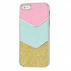 PG003 Glitter Bling Sparkle Skin Style Protective Plastic Back Case for Iphone 5 - Pink + Blue