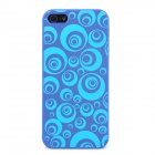 Bubble-Ring Pattern Protective ABS Hard Case für iPhone 5 - Deep Blue + Light Blue