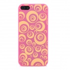Bubble-Ring Pattern Protective ABS Hard Case für iPhone 5 - Rot + Gelb