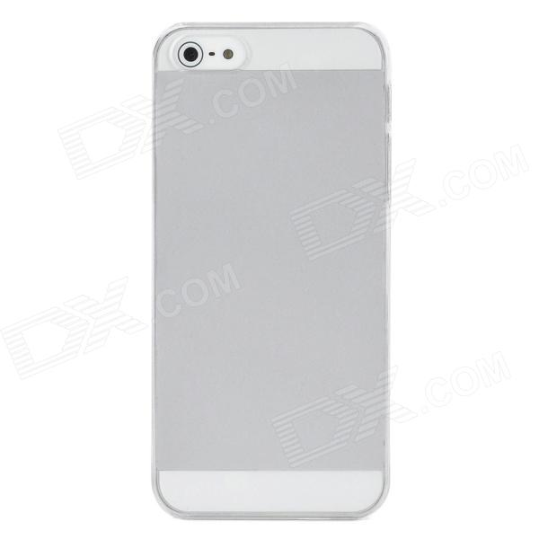 Protective Matte Screen Plastic Back Case for Iphone 5 - Translucent White
