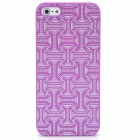 Waist Belt Pattern Protective Plastic Back Case for iPhone 5 - Purple + White