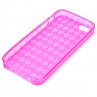 A&T-014 Diamond Style Protective TPU Soft Back Case for Iphone 5 - Pink