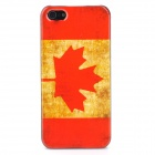 Retro Canadian Flag Pattern Protective Hard Plastic Back Case - Red + Yellow