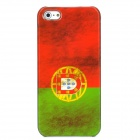 Retro Portugal Flag Pattern Protective Plastic Back Case for Iphone 5 - Red + Green