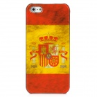 Retro Spain Flag Pattern Protective Plastic Back Case for Iphone 5 - Red + Yellow