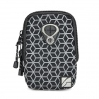Double-Deck Water Resistant Cube Carrying Bag Pouch - Black