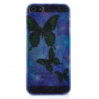 Butterfly Pattern Protective Hard ABS Back Case for iPhone 5 - Translucent Purple