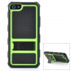 Protective Hard PC + Silicone Back Case Stand for Iphone 5 - Black + Green